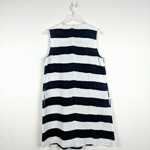 J. McLaughlin Dresses - J. McLaughlin Striped Sleeveless Linen Dress L
